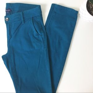 Splendid green teal jeans